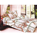 4-pc flor del ciruelo de tamao completo duvet cover set - envo (0586-6940118564282)