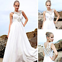 A-line V-neck Floor-length Silk Satin Quick Delivery/ Evening/ Prom Dress (OFGC0259)