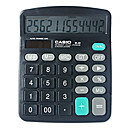 casio calculadora solar powered dupla com 12 dígitos (m-28)