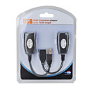 USB-over-RJ45 USB 2.0 Power Boosted Extension Adapters - Pair (150ft/45m max)