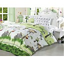 4-pc Queen Size Animal Park Printing Cotton Full Size Duvet Cover Set - Free Shipping (0580-9S707005S)
