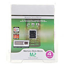 Memory Stick Micro M2 Flash-Speicherkarte mit Pro Duo Adapter (4GB)