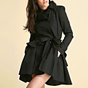 Frill Peplum Skirted Trench Coat Women's Coats (0103AL004-0497)
