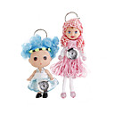 Cute Doll Clock Keychains (Assorted 2-Pack)