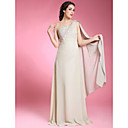 Sheath/ Column One Shoulder Floor-length Chiffon Mother of the Bride Dress
