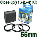emolux 55mm (+1, +2, +4) kit close-up filter (smq5562)