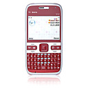 E72Y Dual Card Quad Band Dual Camera Flashlight Ultra Thin JAVA WIFI QWERTY Keypad Metal Cover Red and Silver (2GB TF Card) Original Price $135.99