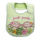 Green Monkey Baby's Bib - Waterproof