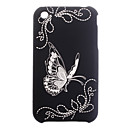 Butterfly  Protective Backside Case Cover for iPhone 3G(Black)