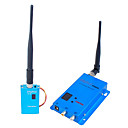 1,5 g wireless 12-ch 1500mW camera doppia camera audio / video sender fox-515h (sfa224)