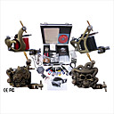 Free Shipping Professional Tattoo Machine Kit Completed Set With 4 Tattoo Gun Machines