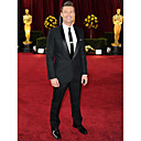 2010 Oscar Ryan Seacrest  1 Button  Center-vented Shawl Lapel Narrow Groom Wear/ Tuxedo/ Men's Suit Jacket and Pants