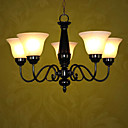 Fields and Garden Black 5-light Linear Chandelier(0810-2050-5U)