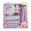 DIY Artificial Nails Set with Glue With Nail Art Beads (12-Nail Pack Assorted Pack Styles)
