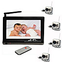 2.4GHz Wireless TFT LCD Baby Monitor with 4 Cameras