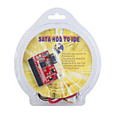 sata hdd tot 40-pin ide master / slave met power adapter kabel