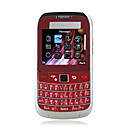 MiNi 8000C Quad Band Dual Card Dual Camera JAVA TV Flashlight Mental Cover Navigation Keypad QWERTY Keypad Cell Phone Red