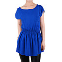 Short Sleeves Round Neckline Women's Dresses (1801BD002-0736)