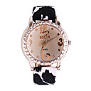 Trendy Leather Band Lady's Crystal Wrist Watch