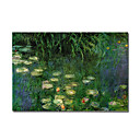 Handmade Painting Water Lilies Claude Monet Stretched Ready to Hang(0192-YCF102695)