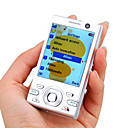W995 JAVA Quad Band Dual Card Bluetooth Dual Camera FM TV Music Slide Cell Phone Silver (2GB TF Card)