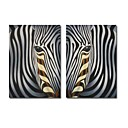 Abstract Handmade Animal Painting Zebra (0250 -CH-55)