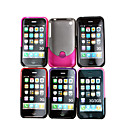 botier en plastique pour iPhone 3G/3GS 6 couleurs 6 pices par paquet (kly132)