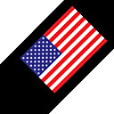 United States of American National Flag Car Sticker - 12CM