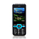 G5 Low Price Dual Card Quad Band Torch Bluetooth Ultra Thin Cell Phone Black and Blue (2GB TF Card)