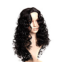 Capless Extra Long High Quality Synthetic Black Curly With No Bang Hair Wig