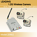 novos de segurana wireless 1.2GHz cctv CMOS cmera de vdeo colorida e receptor de vdeo