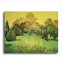 Stretched Canvas Handmade Sunny Day,Arles Painting by Vincent Van Gogh  0192-YCF103196