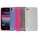 Silicone Protective Case for iPhone 4 - Transparent Rhinestone (4 Colors Per Pack)