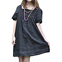 Cotton / Lace Short Sleeves Square Neckline Dress / Women's Maternity Wear (FF-1802BF008-0736)