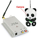 1.2Ghz 1/3 1/4inch CMOS Panda Style Security Wireless Hidden Camera with Receiver