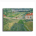 Stretched Canvas Handmade Landscape at Auvers after the Rain,c.1890 Painting by Vincent Van Gogh 0192-YCF103187