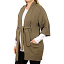 Three-quarters Sleeves Insert Pockets Waistbanding tied Maternity Cardigan / Maternity Wear (FF-1002BF002-0751)