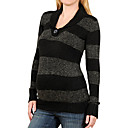 Long Sleeves Button Detail Striped Maternity Sweater / Maternity Wear (FF-1001BF004-0751)