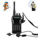 A Pair of Professional Walkie Talkie with Earpiece and PTT Fingerbutton, Transmission Range up to 5KM