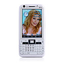 E73 java wifi quad-band dual-kaart dual camera tv fm bluetooth 3.0 inch touch screen mobiele telefoon wit (2GB TF-kaart)
