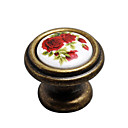 Antique Brass Ceramic Cabinet Knobs (Pack of 10) (0768-802-AER)