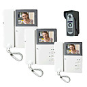 Dragged The Three Black and White Video Intercom Doorbell