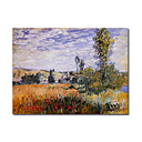 Handmade Landscape at Vetheuil painting by Claude Monet(0192-YCF103458)