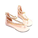 Top Quality Real Leather Upper Low Heels Sandals With Alloy Special Occasion Shoe/ Fashion Shoe(0985-K012)