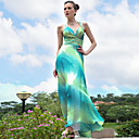 Sheath/ Column Straps Floor-length Sleeveless Satin/ Elastic Silk-like Satin Quick Delivery Dress (OFGH533)