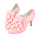 Top Quality Patent Leather Upper Mid Heels Closed-toes With Bowknot Special Occasion Shoe/ Fashion Shoe(0985-K924)