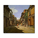 Handmade Le Rue de La Bavolle at Honfleur 1 painting  by Claude Monet Stretched Ready to Hang (0192-YCF103460)