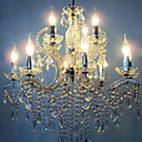 Iron Chrome 12-light Crystal Chandelier (1048-NT5829-12)