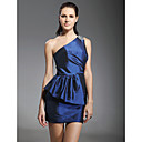 Taffeta Sheath/ Column One Shoulder Short/Mini Beaded Cocktail Dress inspired by Grammy