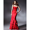 Taffeta Trumpet/ Mermaid Sweatheart Floor-length Evening Dress inspired by Niecy Nash at Golden Globe